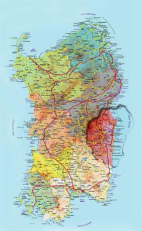 Sardegna Cartina Province.Come Raggiungere Talana Comune Di Talana